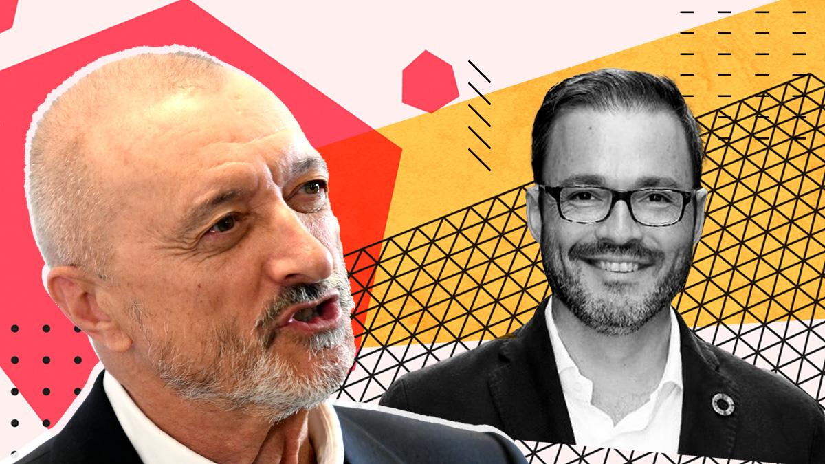 Arturo Pérez-Reverte y José Hila
