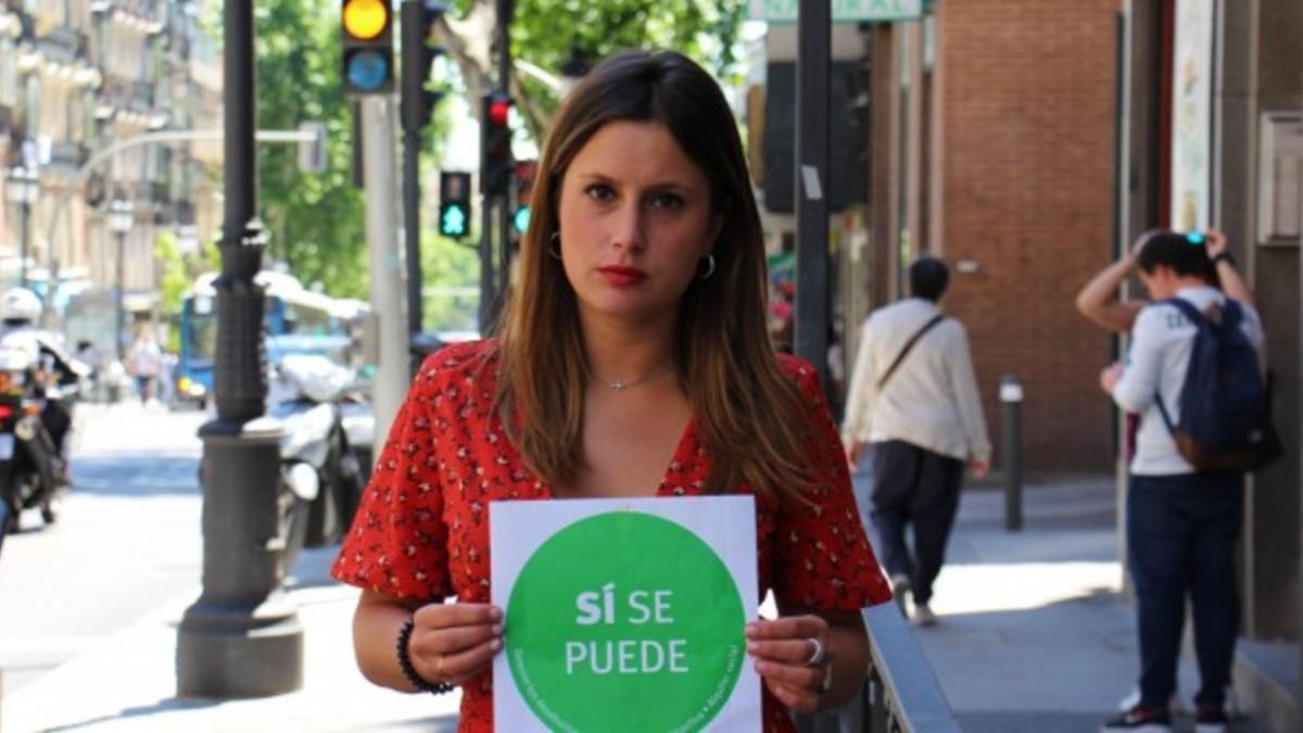 La la activista antidesahucios y candidata de Podemos con Pablo Iglesias, Alejandra Jacinto.