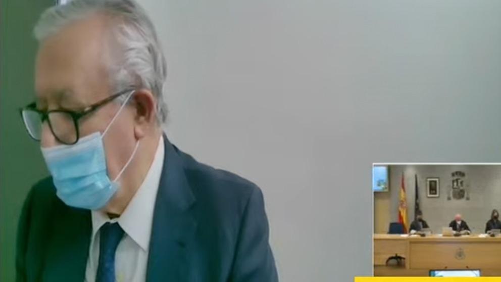 El ex secretario general del PP Javier Arenas en su declaración en el juicio de Gürtel.