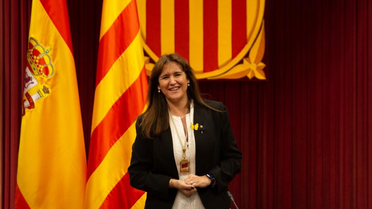 La presidenta del Parlament, Laura Borràs. (Foto: EP)