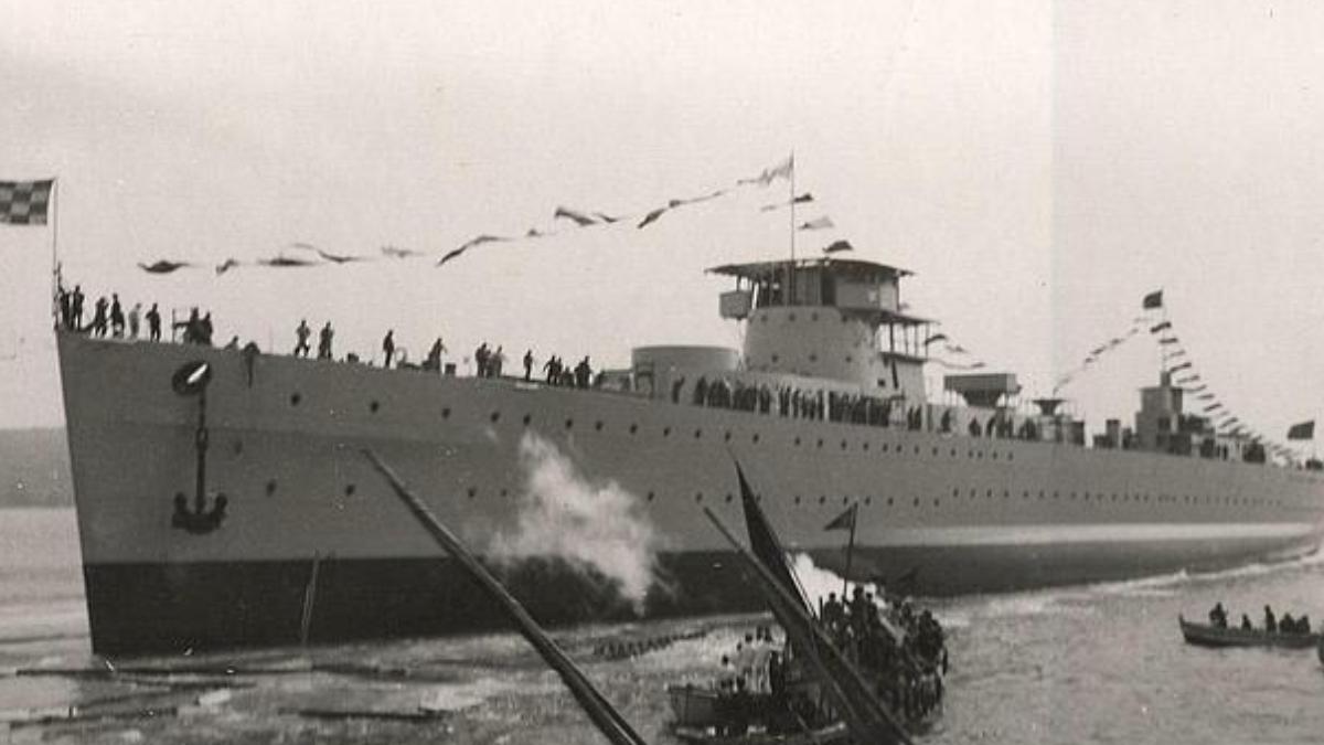 El crucero 'Baleares'.