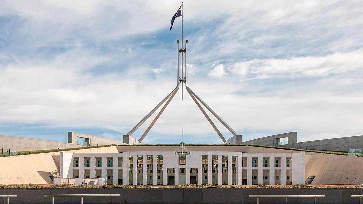 El parlamento australiano, en la ciudad de Canberra