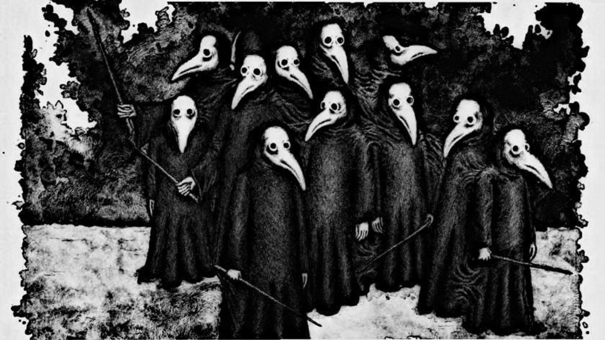 Representación habitual de la peste negra