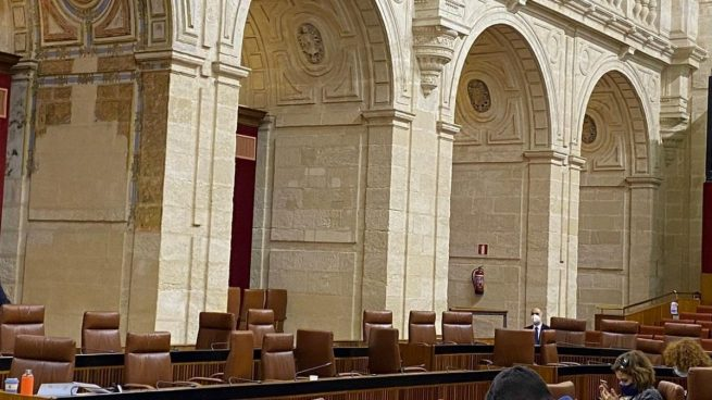 Bancada de la izquierda en el Parlamento de Andalucía durante el debate sobre Salud.