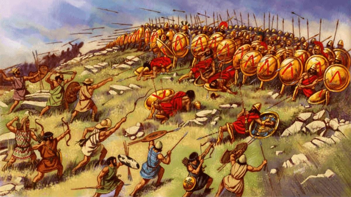 Esparta en la batalla de Esfacteria