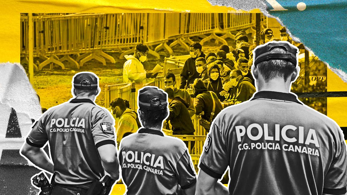 Los policías de Canarias denuncian falta de medios para atender sus labores diarias y además acudir a los disturbios en los centros de acogida de inmigrantes ilegales.