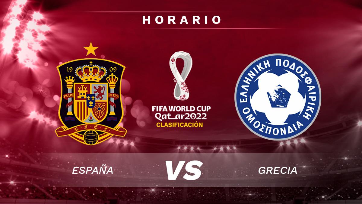 España – Grecia: partido de fase de clasificación para el Mundial de Qatar 2022.
