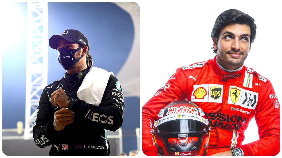 Lewis Hamilton Y Carlos Sainz.