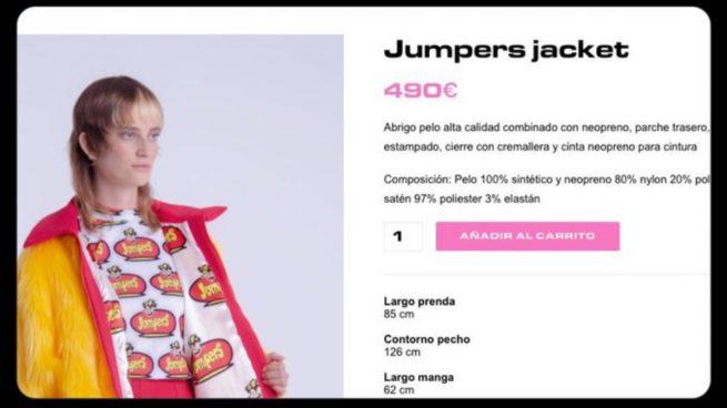 Jumpers se venga de una imitación cara creando su propia sudadera