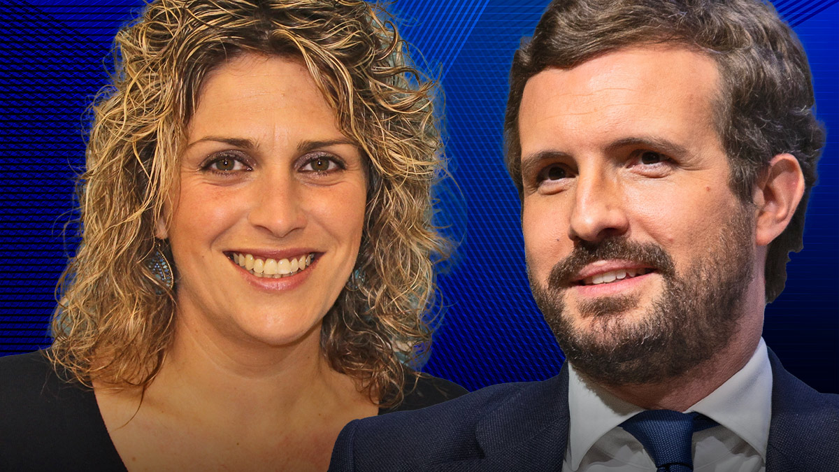 Marta Barrachina y Pablo Casado.