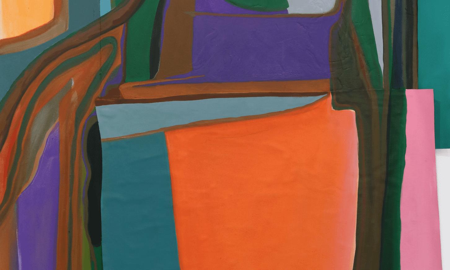 Annabeth Marks. Night Adaptor, 2017. Látex y pintura al óleo sobre lienzo.