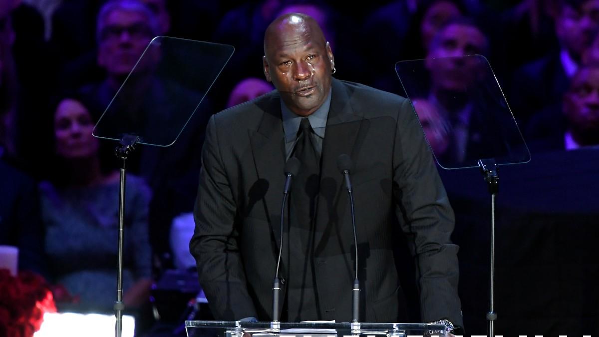 Michael Jordan, en el funeral de Kobe Bryant. (Getty)