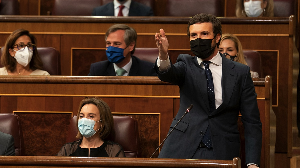 Pablo Casado en el Congreso de los Diputados. (Foto: PP)