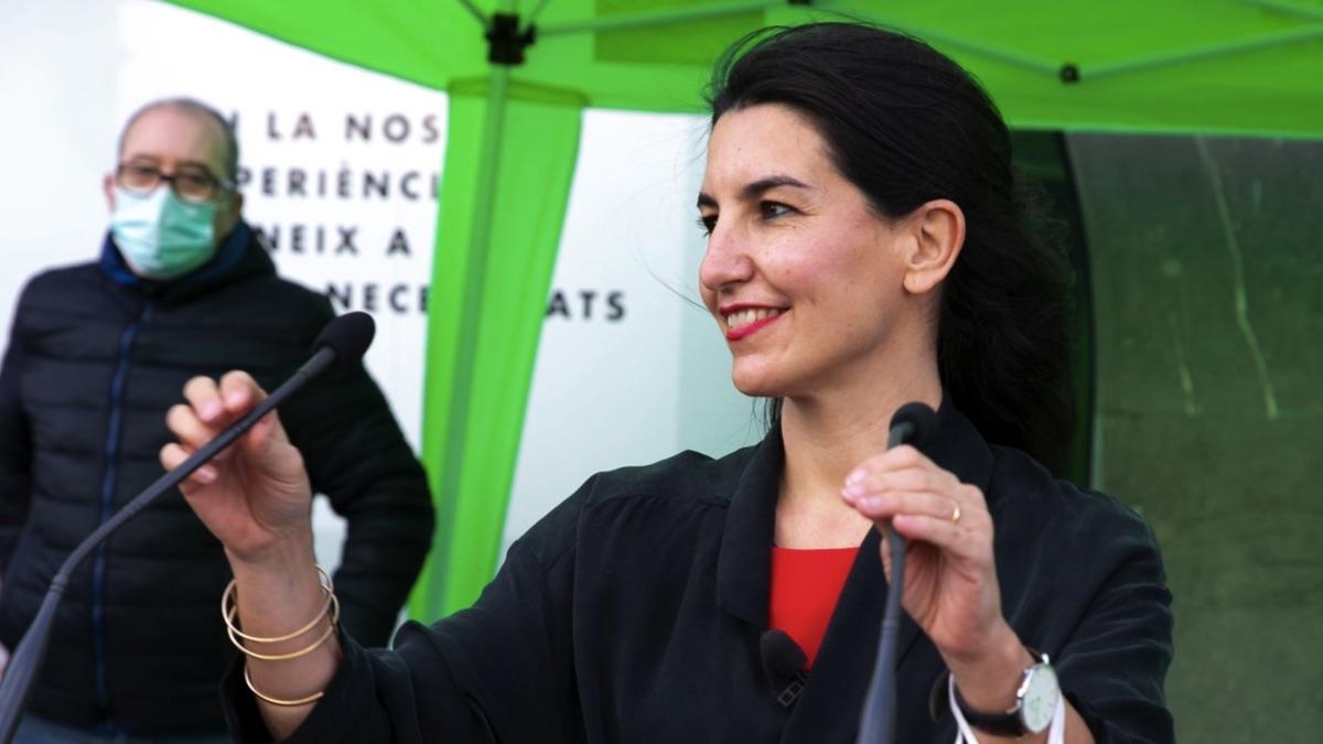 Rocío Monasterio de campaña electoral. (Foto: Vox)