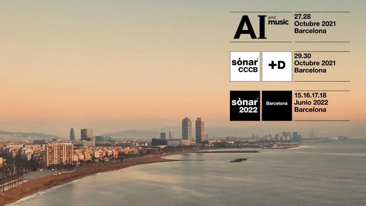Cartel del AI and Music Festival, SónarCCCB y Sónar 2022.