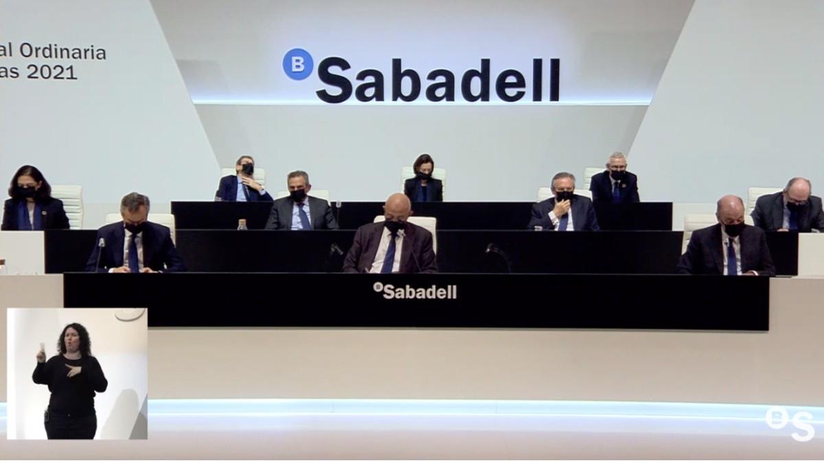 Junta de Banco Sabadell.