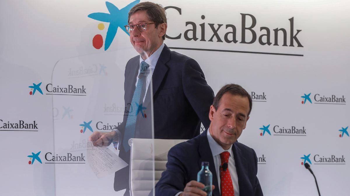 Gonzalo Gortázar, consejero delegado de CaixaBank, y José Ignacio Goirgolzarri, presidente