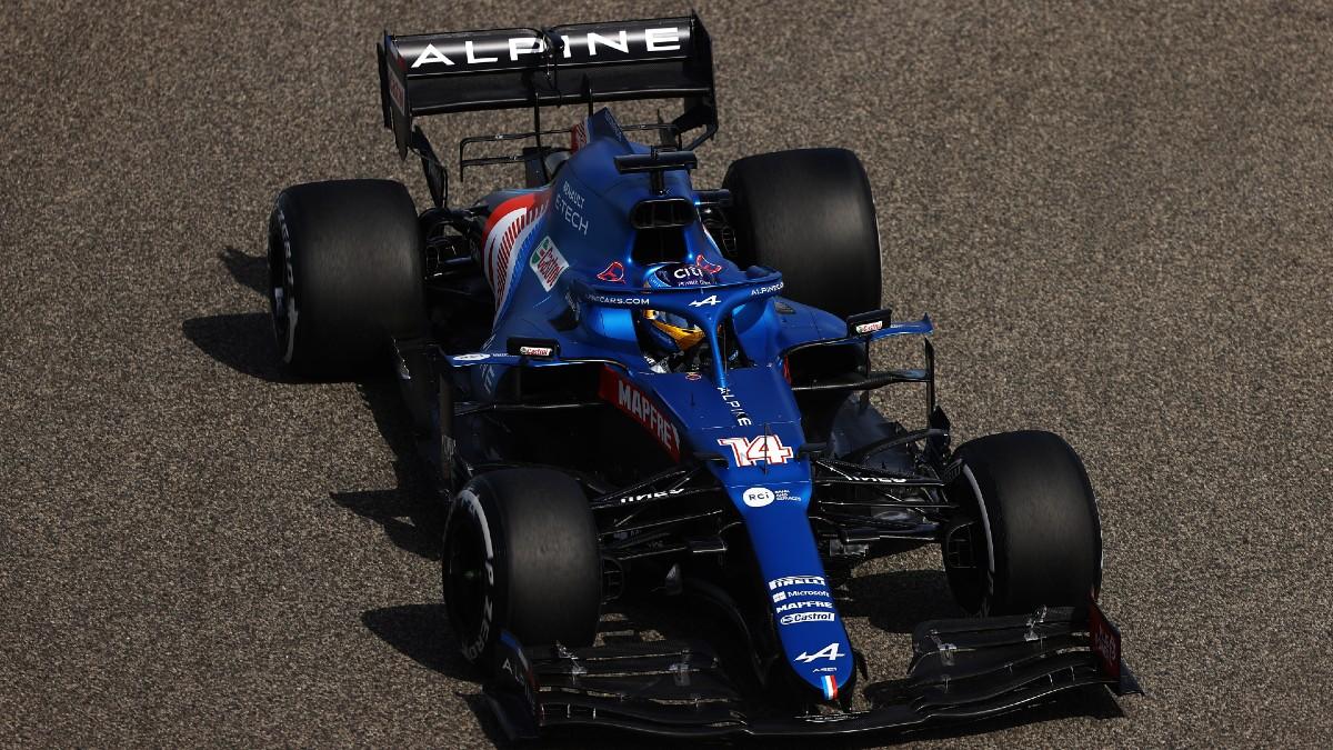 Fernando Alonso, en la primera sesión de los entrenamientos libres. (Getty)
