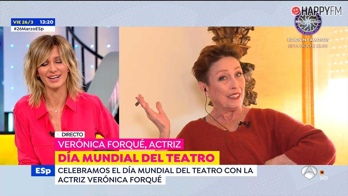 La esperpéntica entrevista de Verónica Forqué 'fumando' en directo