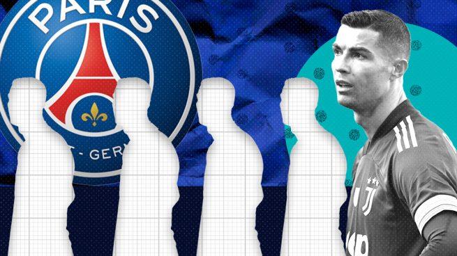 Cristiano Ronaldo es el último de la fila para el PSG