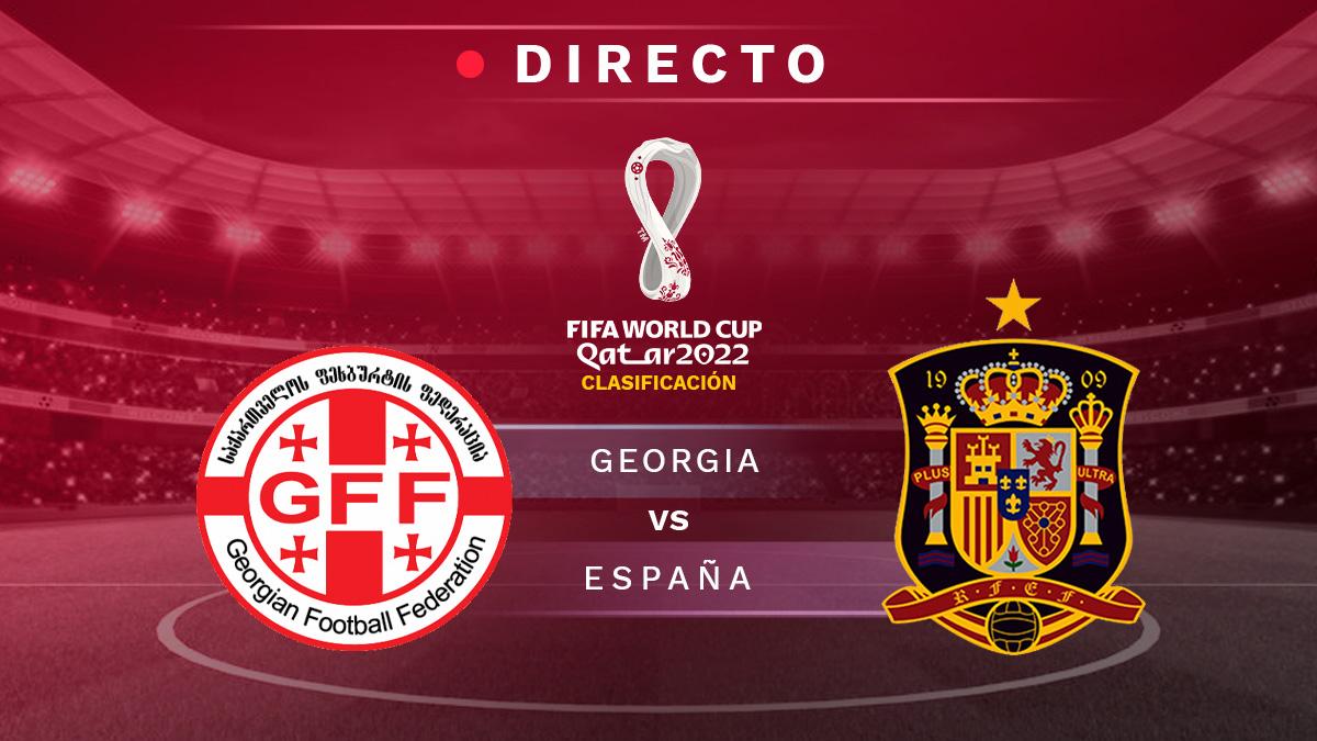 Georgia – España: clasificación Mundial Qatar 2022