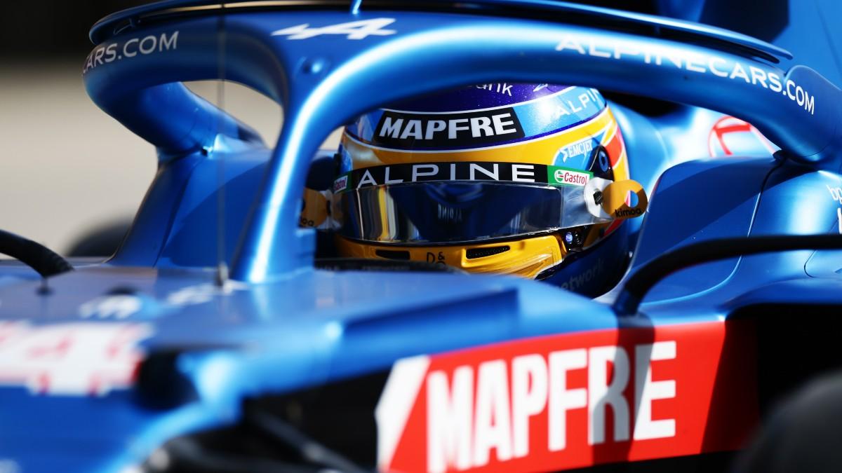 Fernando Alonso en el Gran Premio de Baréin. (AFP)