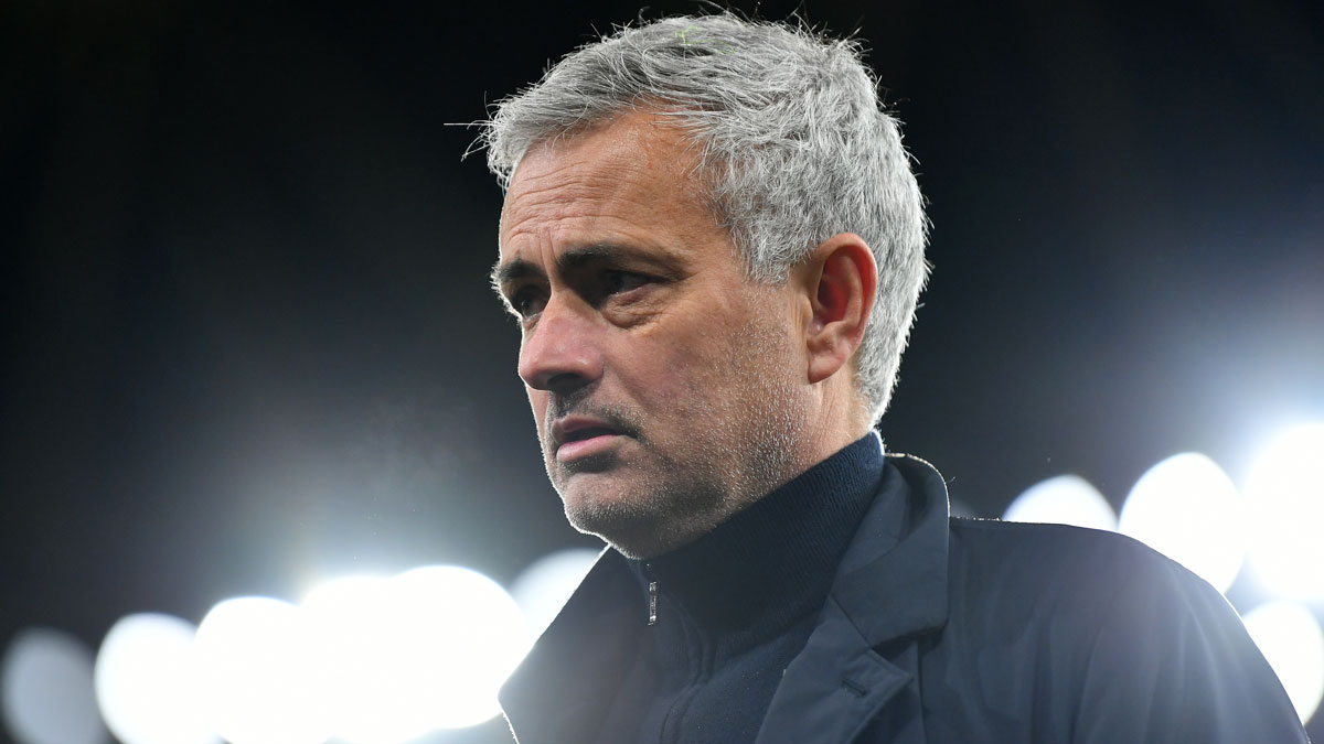 Mourinho, durante un partido con el Tottenham (Getty)