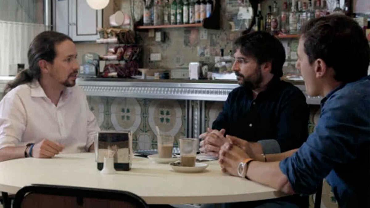 Pablo Iglesias y Albert Rivera en Salvados