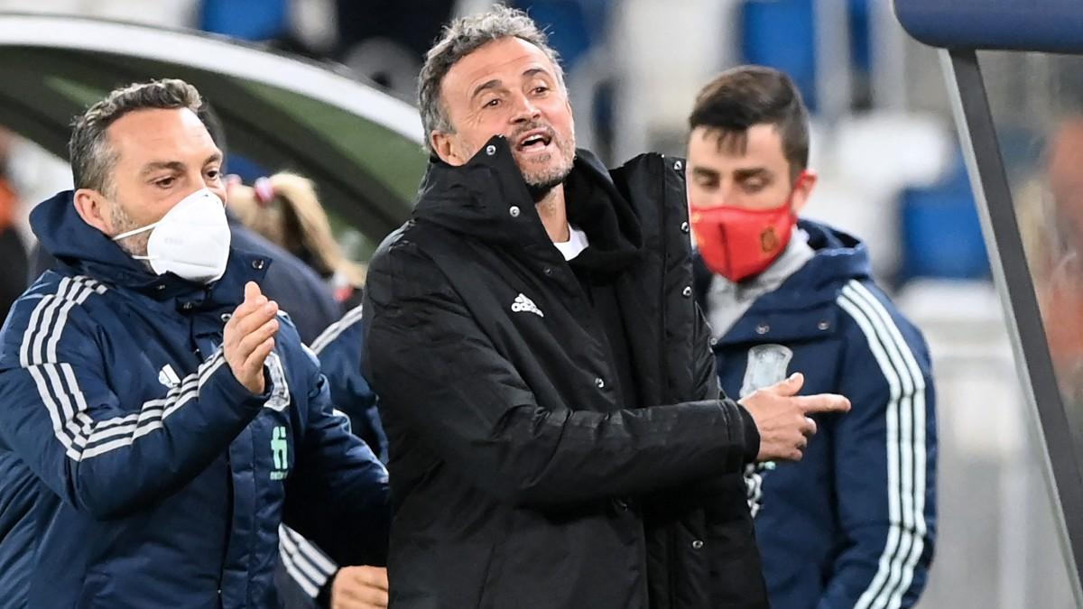 Luis Enrique durante un partido. (AFP)