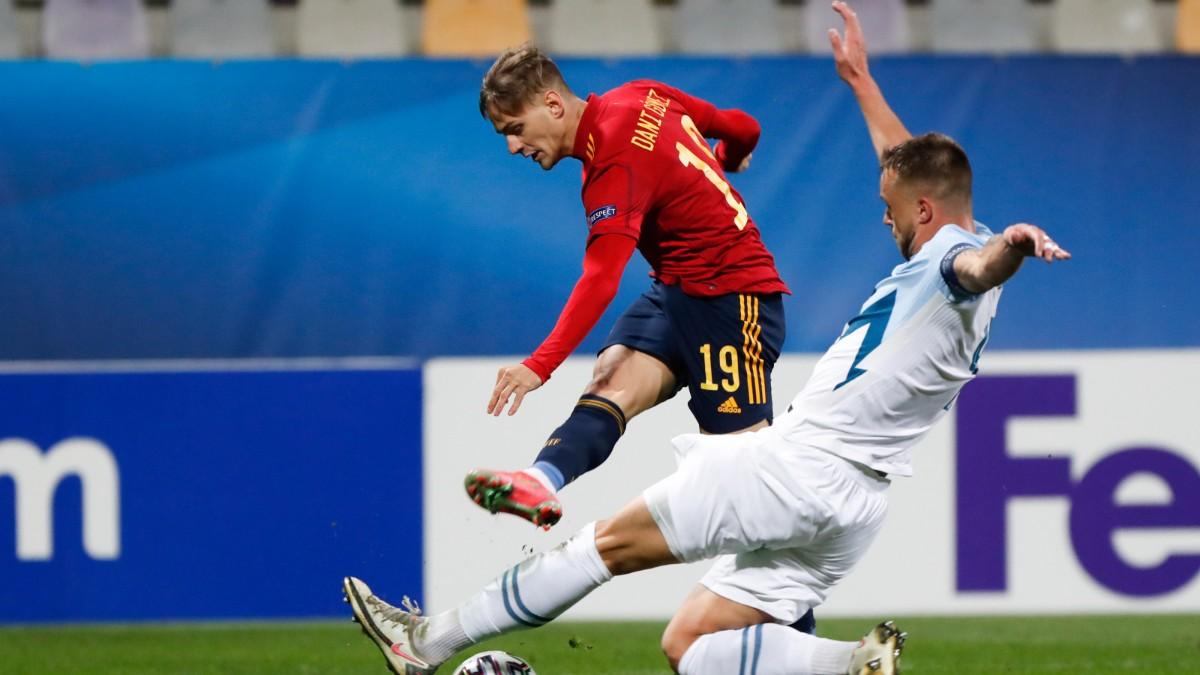 Dani Gómez, durante un partido del Europeo. (SeFútbol)