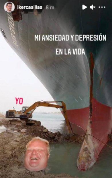La imagen publicada por Casillas