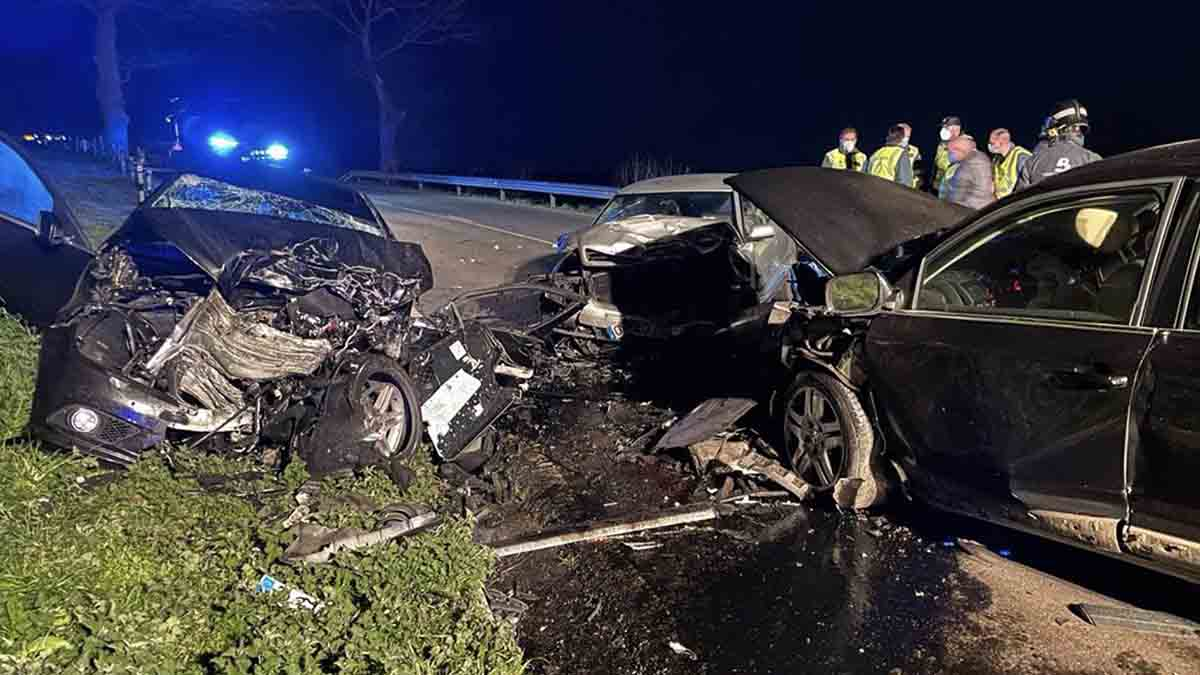 Imagen del accidente de tráfico. Foto: EP