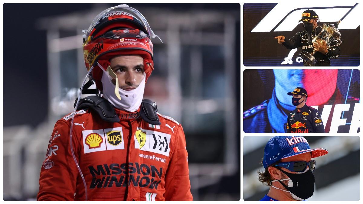 Sainz, Hamilton, Verstappen y Ocon