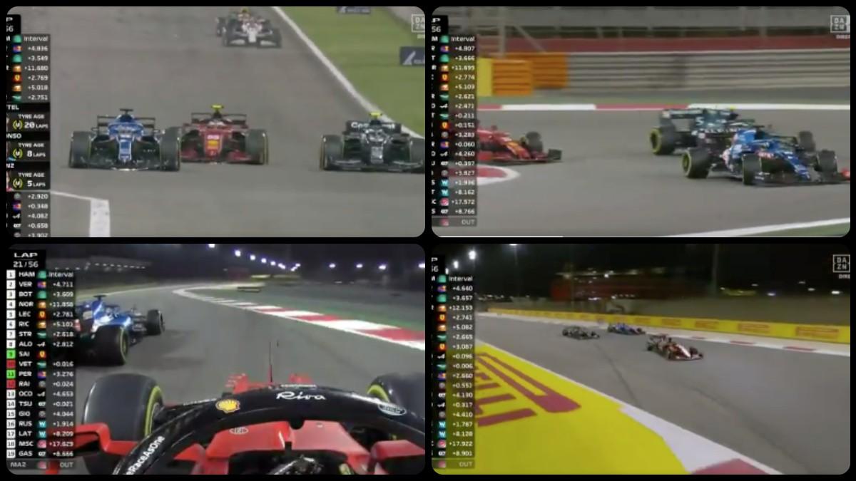 El espectacular doble adelantamiento de Carlos Sainz.