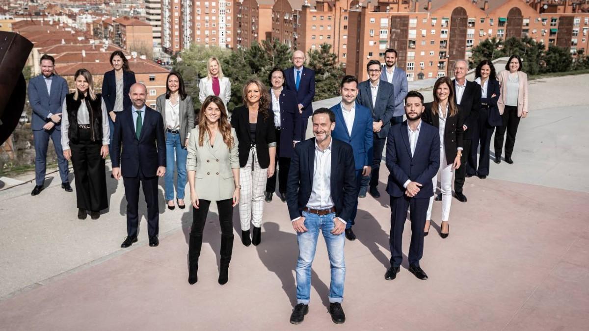 Foto de familia de la candidatura de Ciudadanos en Madrid. (Imagen: Cs)