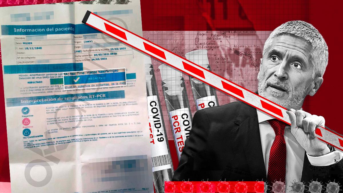 La Policía francesa avisó a España del tránsito de personas con PCR falsos en la Jonquera.