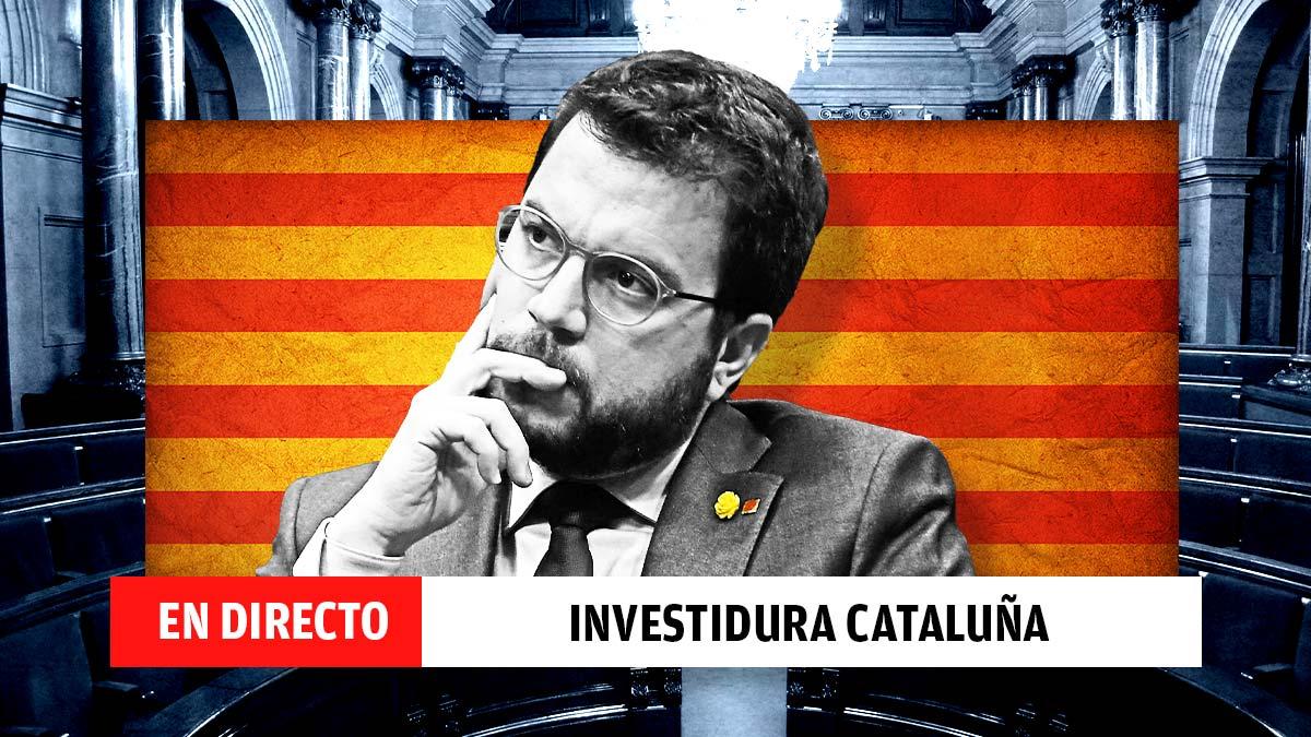 Última hora del debate de investidura de Pere Aragonés.