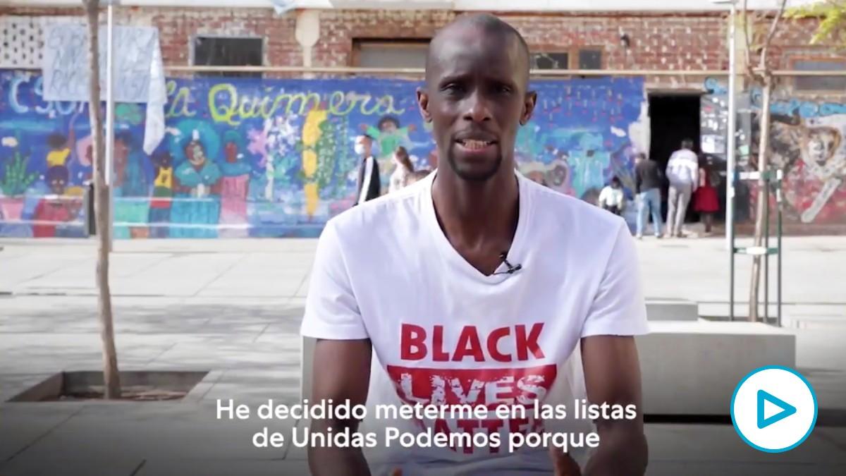 Serigne Mbayé, portavoz del Sindicato de Manteros de Madrid e integrante de la Asociación de Sin Papeles de Madrid.