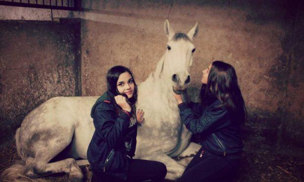 Niñas con caballo