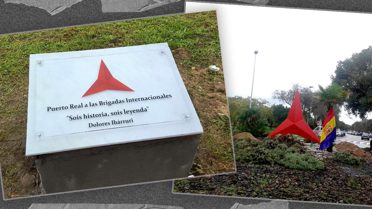 Glorieta a las Brigadas Internacionales en Puerto Real (Cádiz).