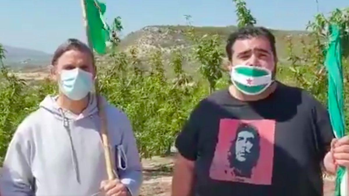 A la derecha, el sindicalista condenado Óscar Reina Gómez, portavoz del Sindicato Andaluz de Trabajadores (SAT).