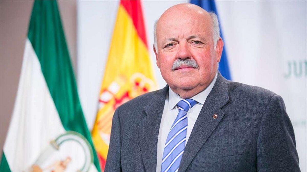 Jesús Aguirre, consejero de Salud y Familias de la Junta de Andalucía (Foto: Twitter).