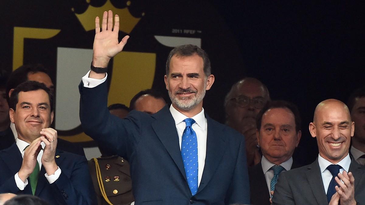 Felipe VI, en la última final de Copa del Rey disputada en el Villamarín.