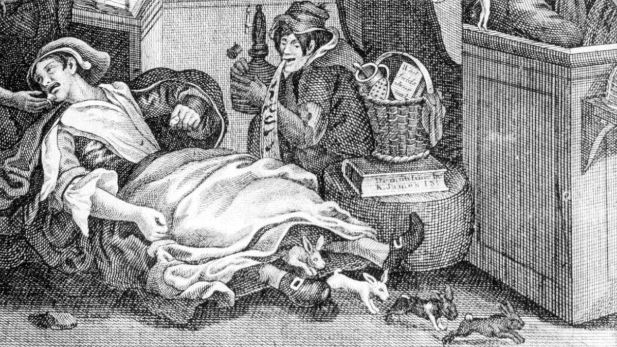 Dibujo sobre los partos de Mary Toft