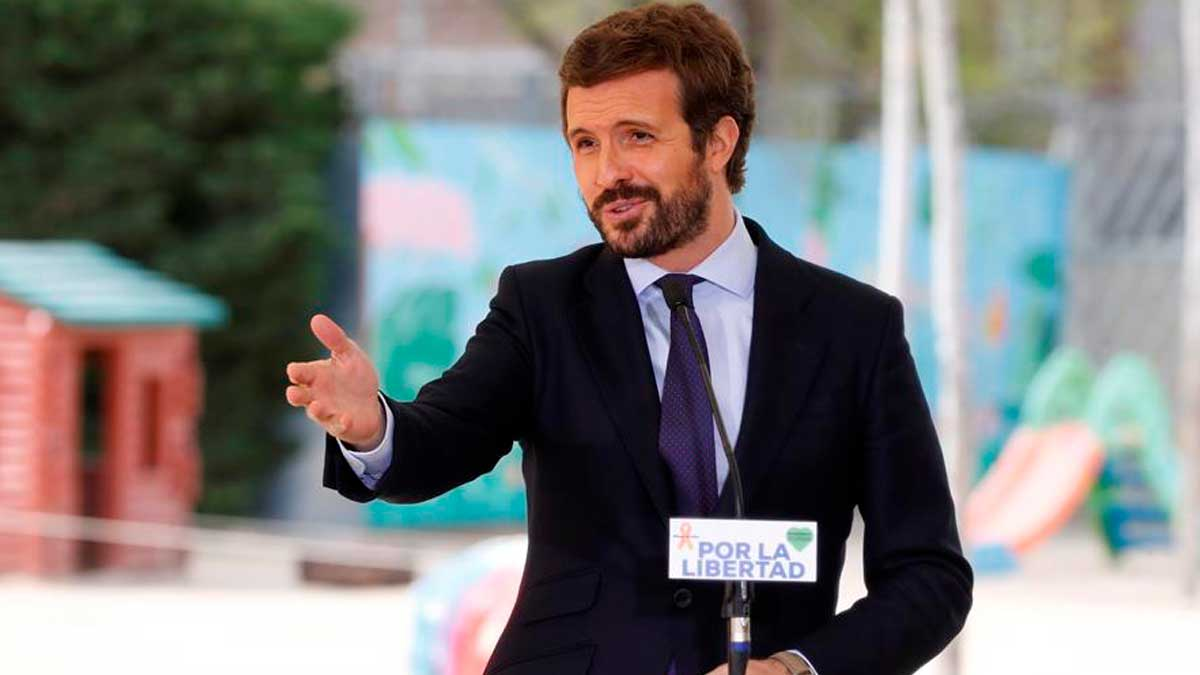 El líder del PP, Pablo Casado. Foto: EFE