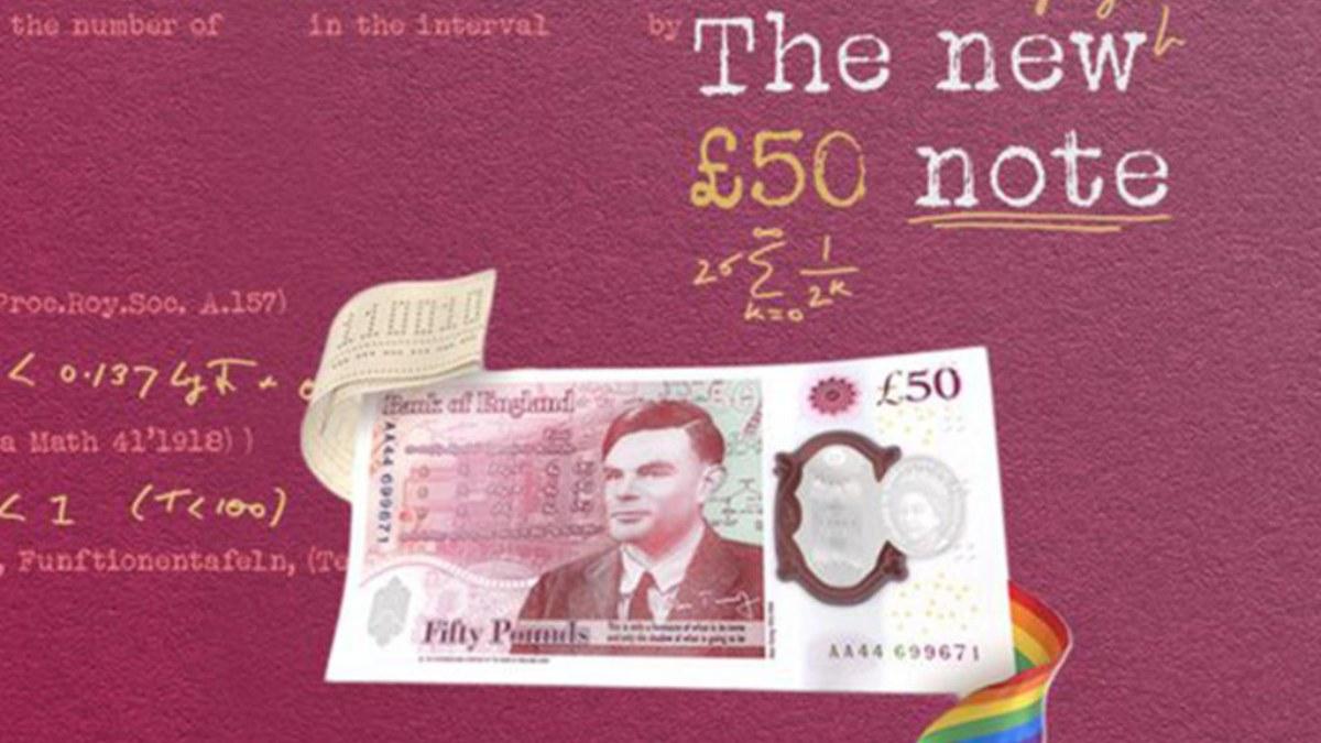 El nuevo billete dedicado a Alan Turing