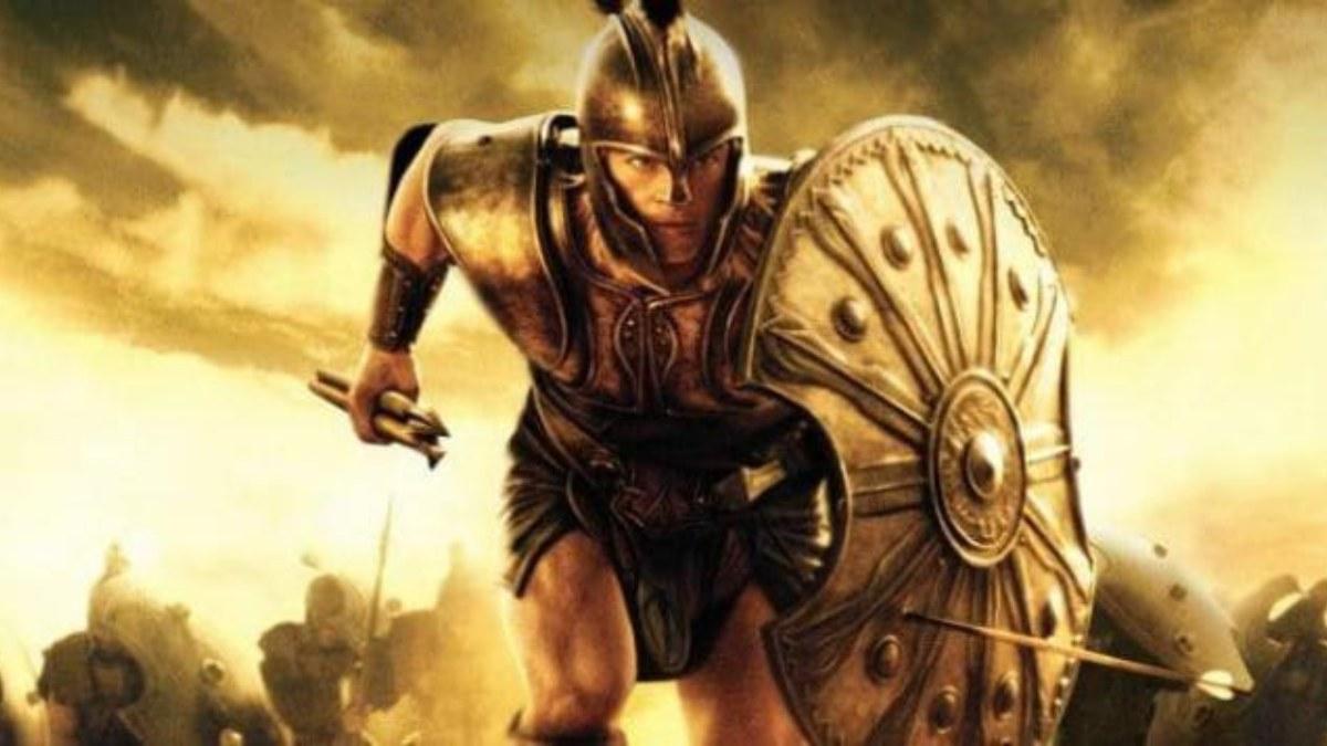 Brad Pitt como Aquiles en la película 'Troya'