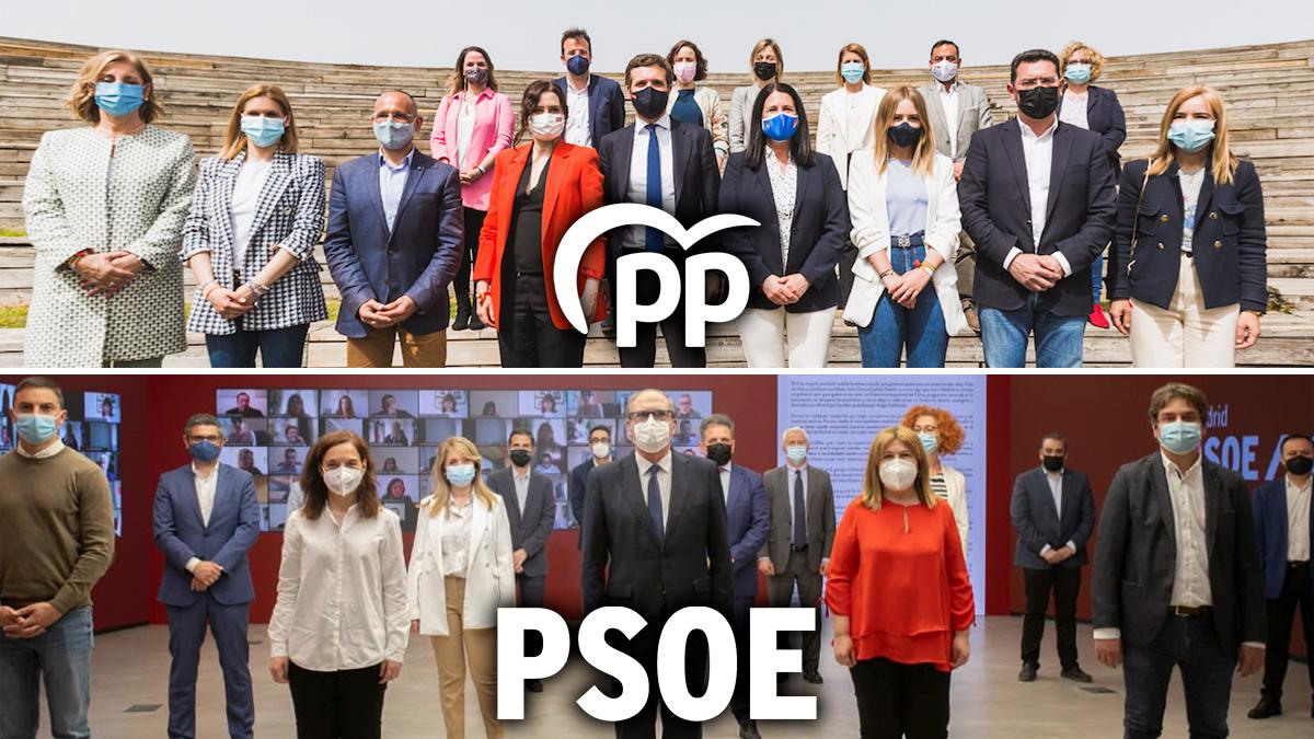 PP y PSOE sí respetaron la normativa sanitaria que obliga al uso de mascarillas.