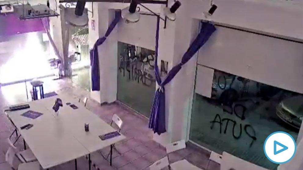 Ataque a la sede de Podemos en Cartagena (Murcia)
