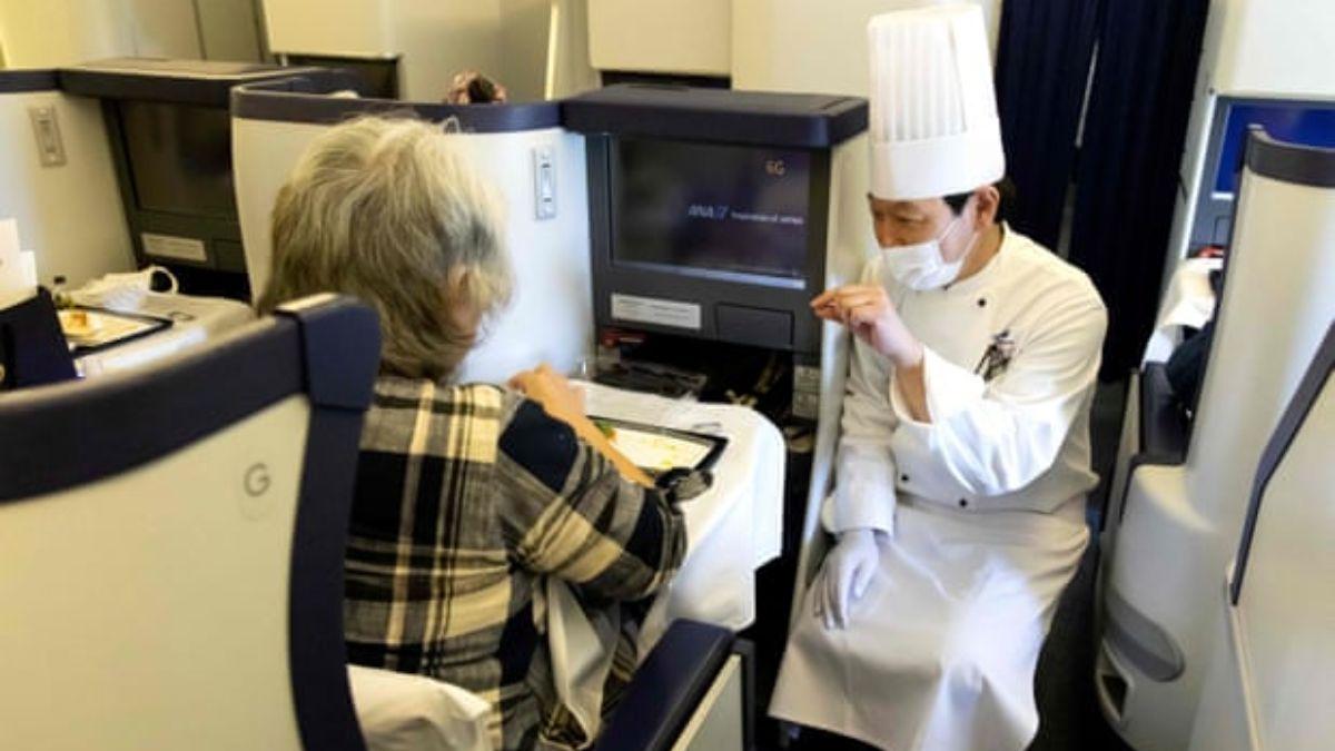 Nippon Airways ofrece cenas en sus aviones en tierra / Fotografía: All Nippon Airways / AFP / Getty Images